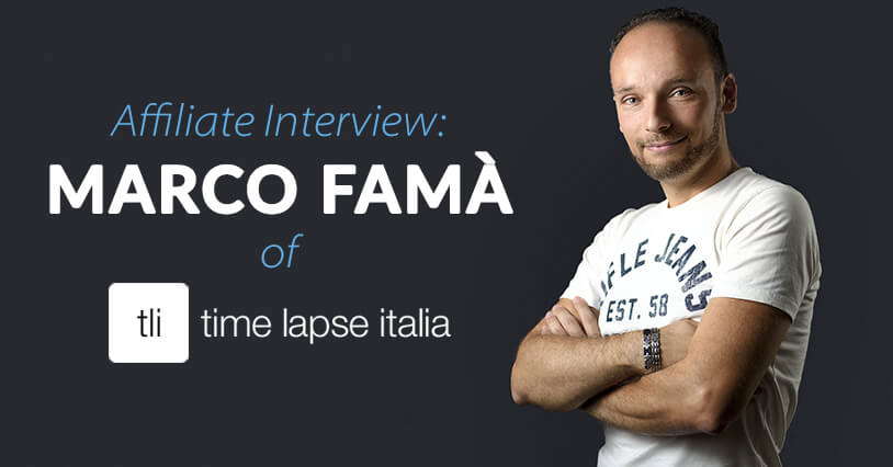 Affiliate Interview Marco Fam Of Time Lapse Italia