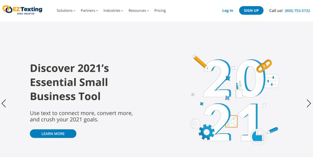 The EZ Texting SMS marketing web app.