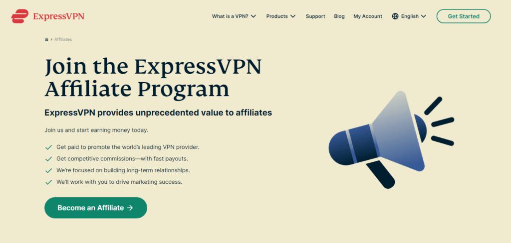 Express VPN- a vpn affiliate program